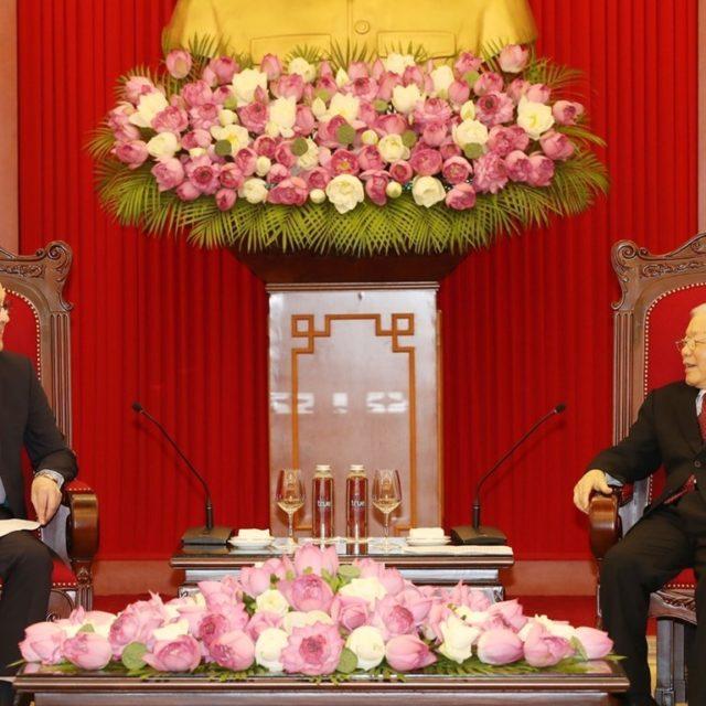 Генеральный секретарь Нгуен Фу Чонг принял посла РФ во Вьетнаме